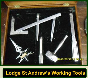 Lodge St Andrew's Working Tools